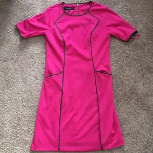 PINK DRESS WITH GRAY DETAIL NINE WEST